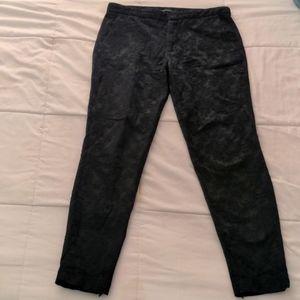 Zara embroidered black pants